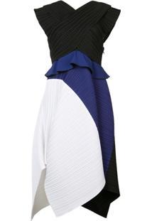 Proenza Schouler Vestido Color Block - Preto