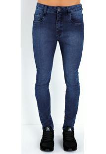 Calça Jeans Com Bolsos Funcionais
