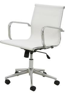 Cadeira Sevilha Eames Baixa Cromada Tela Branca - 38049 - Sun House