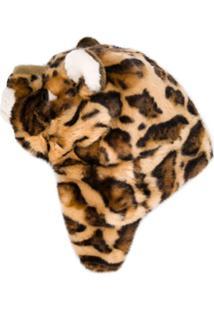 Dolce & Gabbana Kids Gorro De Leopardo - Marrom
