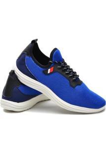 Tênis Casual Icalçados Leve Confortavel Dia Dia Masculino - Masculino-Azul Claro