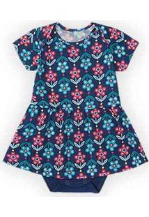 Body Marisol Play Bebê Com Estampa Floral - 112080