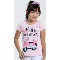 978ff7b9b0 Blusa Infantil Estampa Floral Manha Curta Marisa