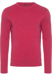 Casaco Masculino Tricot Over Solid Cotton - Vermelho