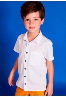 Camisa Infantil Menino Em Tecido Especial De Algodão - Cápsula Celebra Puc