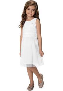 Vestido Branco Evasê Com Laíse