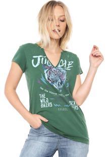 Camiseta Colcci Jungle Verde