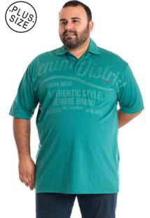 Camisa Polo Plus Size Ciano