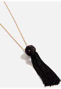Colar Line Ball Preto/Ouro - U