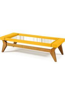 Mesa De Centro Crystal Cor Amendoa Com Amarelo - 29808 - Sun House