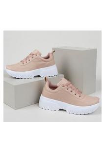 Tênis Feminino Oneself Sneaker Chunky Rosa
