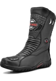 Bota Motociclista Atron Shoes 299 Preto