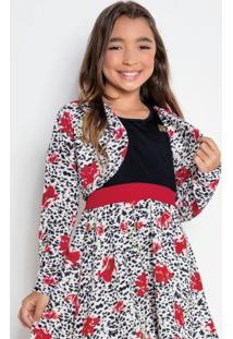 Bolero Infantil Flores Kollor Magic