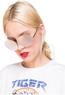 Óculos De Sol Aviador Redondo
