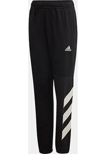 Calça Infantil Adidas Jb A Xfg Masculina - Masculino-Preto+Branco