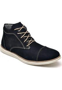 Bota Fk Shoes Casual Couro Cano Curto Masculina - Masculino