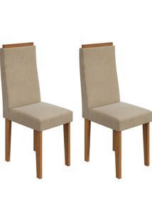Conjunto Com 2 Cadeiras Dafne Rovere E Creme