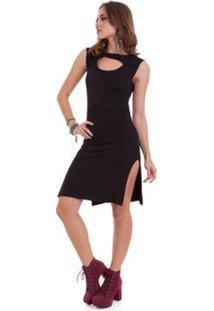 Vestido Manola Vazado - Feminino-Preto