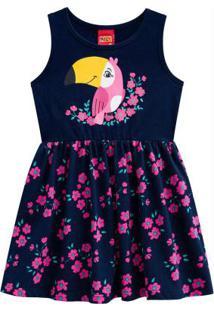 Vestido Infantil Azul Marinho