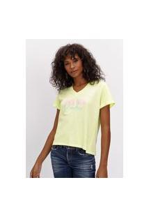 T-Shirt Decote V Lemon Ref: 502Ts002107 08275 T-Shirt Decote V Lemon Ref: 502Ts002107 08275 - Gg - Verde Lança Perfume