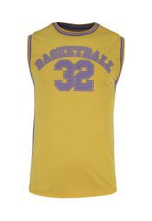 Camiseta Regata Adams Basketball Bas002 - Masculina - Amarelo