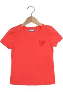 Camiseta Colcci Fun Logo Laranja