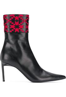 Haider Ackermann Embroidered Ankle Boots - Preto