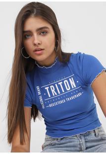 Camiseta Triton Canelada Azul - Kanui