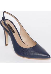 Sapato Chanel Em Couro - Azul Marinho - Salto: 11Cmjorge Bischoff
