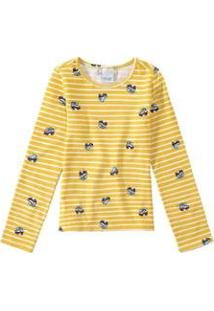 Blusa Estampada Em Cotton Light Malwee Kids Malwee Kids Feminino - Feminino