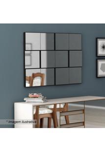 Painel Decorativo Quadriculado- Preto Brilho- 75X100Dalla Costa