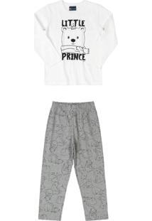 Pijama Família Manga Longa Branco