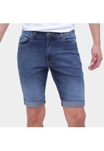 Bermuda Jeans Enfim Slim Masculina - Masculino-Azul Escuro
