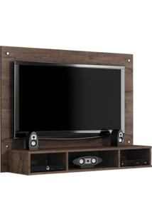 Painel Para Tv 46 Polegadas Atena Castanho 120 Cm