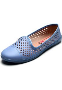 Slipper Moleca Perfuros Azul