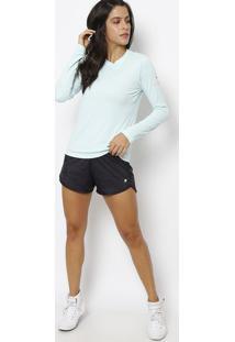Camiseta Running Com Fps 50+® - Verde Claro & Laranjafila
