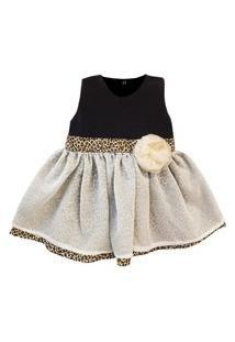 Vestido Padroeira Baby Lívia Bege