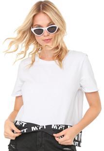 Camiseta My Favorite Thing(S) Tule Lettering Branca/Preta