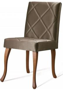 Cadeira Copas Matelasse Marrom Base Castanho - 50545 - Sun House