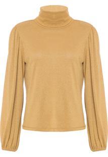 Camiseta Feminina Charlote - Dourado
