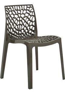 Cadeira Gruv -Rivatti - Marrom