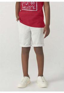 Bermuda Infantil Menino Chino Fio Tinto Cinza
