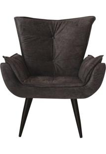 Kit 02 Poltronas Decorativas Emilia Plus Suede Preto Edecor
