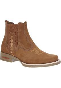Bota Country Couro Castor Fazenda Boots Masculina - Masculino-Marrom Claro
