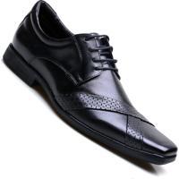 96f5b42ad Sapato Social Couro Amarração Calvest Masculino. - Masculino-Preto