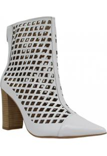 Bota Zariff Shoes Ankle Boot Vazado Feminina - Feminino