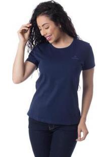 Camiseta Com Logomarca Básica Thiago Brado 6027000010 Marinho - Marinho - Pp - Feminino-Marinho