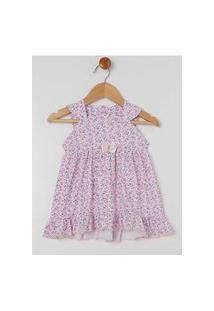 Vestido Infantil Com Calcinha Para Bebê Menina - Branco