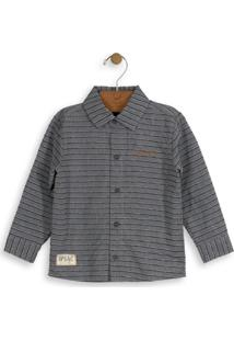 Camisa Listrada Infantil Preto