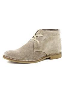 Botina Gasparini Luxury Desert Boots Chelsea Com Cadarço Areia